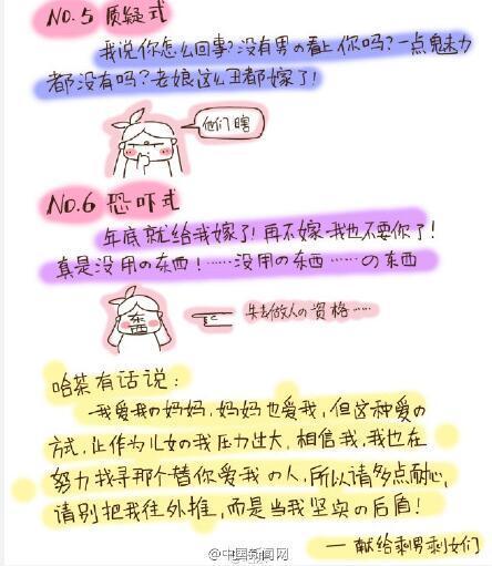 """温州""""剩女""""屡遭母亲催婚 漫画吐槽走红网络"""