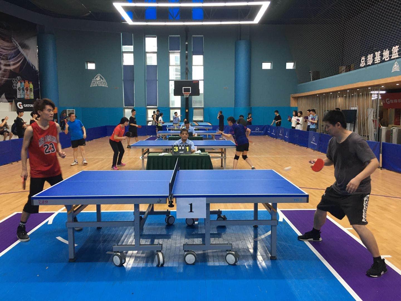 成华区举行职工乒乓球选拔赛