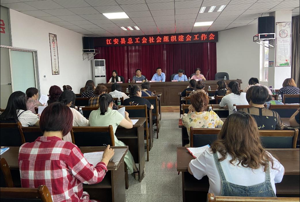 江安县总工会召开社会组织建会工作会!''